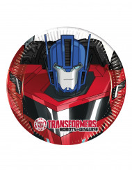 8 piattini in cartone Transformers RID™ 20 cm