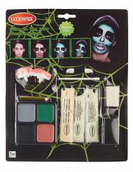 Kit trucco scheletro fosforescente per adulto Halloween