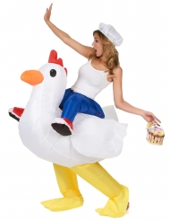 Costume gonfiabile da pollo adulto