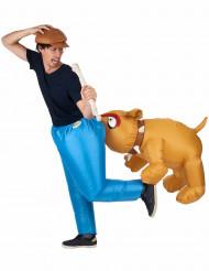 Costume con bulldog gonfiabile adulto