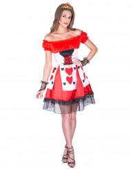 Costume corto da dama di cuori per donna
