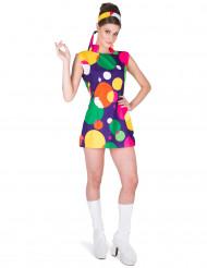 Costume colorato disco pop per donna