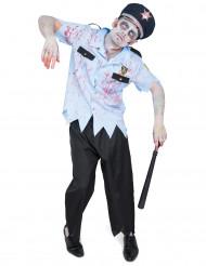 Costume da poliziotto zombie adulto Halloween