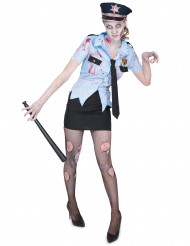 Costume poliziotta zombie per donna