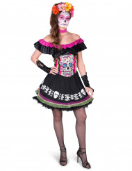 Costume corto Dia de los muertos da donna