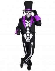 Costume viola Dia de los muertos adulto Halloween