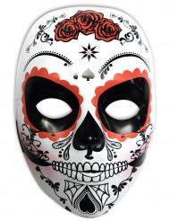 Maschera bianca Dia de los muertos da donna