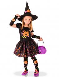 Costume da strega con zucche per bambina