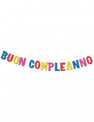 Ghirlanda con lettere in cartone Buon compleanno