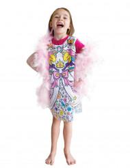 Vestito lavabile da colorare per bambina