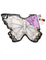 Ali da farfalla lavabili da colorare e decorare