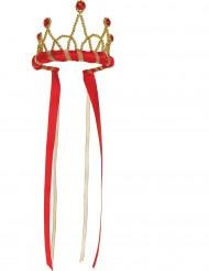 Corona rossa da regina medievale per bambina