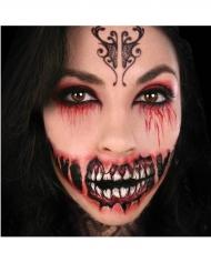 Tatuaggio temporaneo gran sorriso demoniaco per adulto