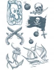 Tatuaggi temporanei pirati per adulti