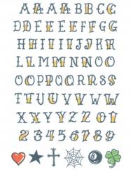 Tatuaggi temporanei alfabeto per adulti