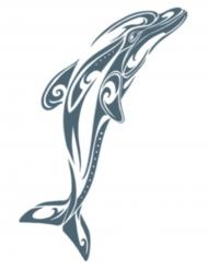 Tatuaggio temporaneo delfino per adulti