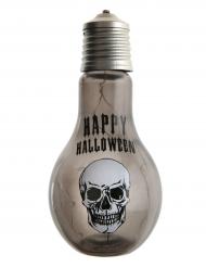 Decorazione lampadina con teschio luminosa