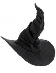 Cappello da strega nero in velluto adulto