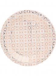 10 piatti di cartone color rame 23 cm