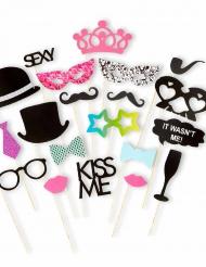 Kit photobooth 20 accessori matrimonio