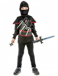 Travestimento ninja nero bimbo
