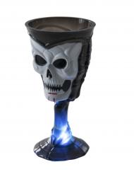 Calice luminoso nero con teschio Halloween