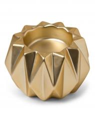 Portacandele stile origami in resina oro