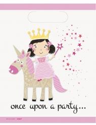 8 sacchetti per festa principessa e unicorno