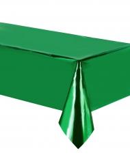 Tovaglia in plastica verde metallizzato
