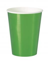8 bicchieri in cartone verde metallizzato 25 cl