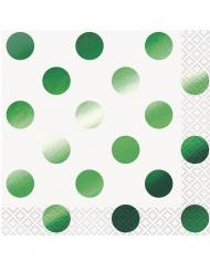 16 tovagliolini di carta pois verdi