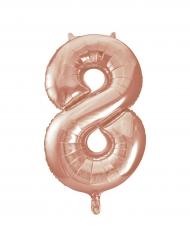 Palloncino alluminio oro rosa numero 8 - 86 cm