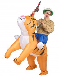 Costume tigre gonfiabile Carry Me per adulto