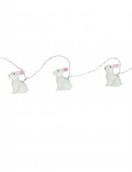 Ghirlanda luminosa con conigli