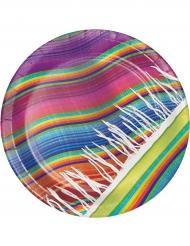 8 piatti in cartone poncho 22 cm