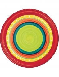 8 Piatti piccoli in cartone Messico 18 cm