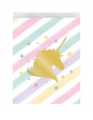 10 sacchetti di carta unicorno pastello