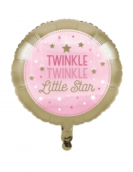Palloncino in alluminio Little star rosa