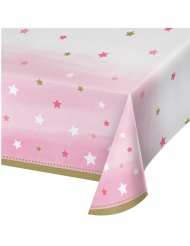 Tovaglia in plastica Little Star rosa