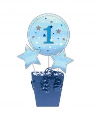 3 stecchini per centrotavola Little Star blu