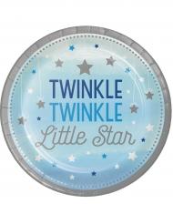8 piatti Little Star blu 23 cm