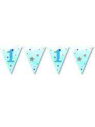 Ghirlanda bandierine 1 anno Little Stars blu