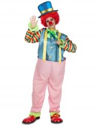 Costume da clown rosa per adulto