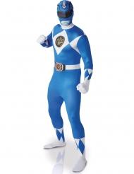 Costume da Power Ranger™ seconda pelle blu adulto
