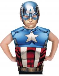 T-shirt e maschera Captain America™ per bambino