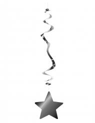 6 sospensioni metallizzate color argento con stella