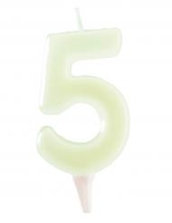 Candelina fosforescente numero 5