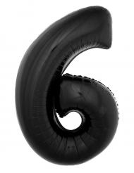 Palloncino alluminio numero 6 nero 40 cm