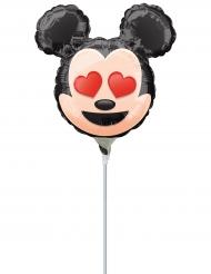 Palloncino alluminio con asta Topolino™ Emoji™