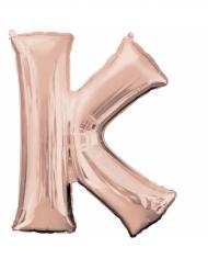 Palloncino alluminio oro rosa lettera K - 83 cm